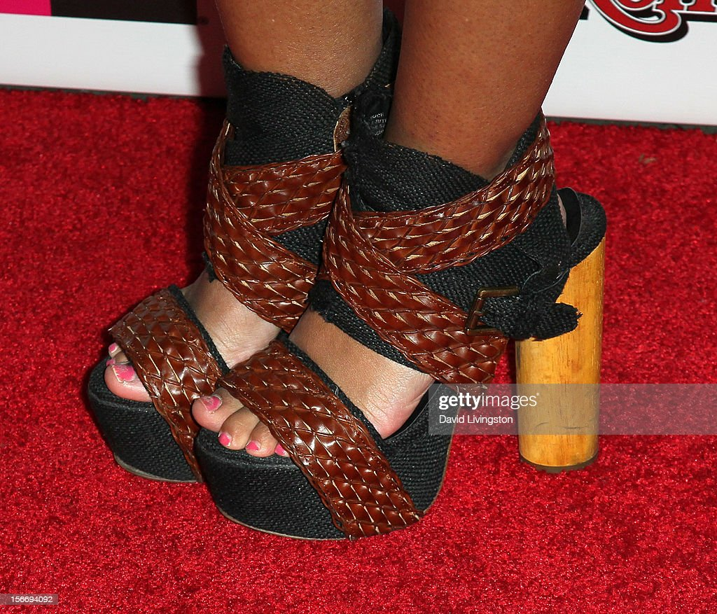 Actress Marisa Lauren (shoe detail) attends Rolling Stone Magazine's 2012 American Music Awards (AMAs) VIP After Party presented by Nokia and Rdio at the Rolling Stone Restaurant and Lounge on November 18, 2012 in Los Angeles, California.