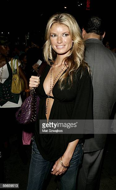 Actress Marisa Miller arrives for the Lamb By Gwen Stefani Spring 2006 fashion show during Olympus Fashion Week at Roseland September 16 2005 in New...