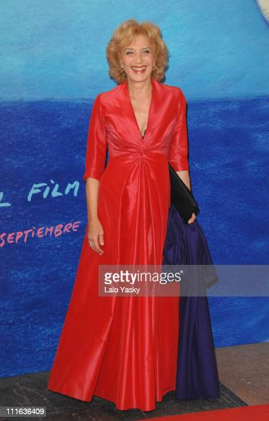 """Actress Marisa Paredes attends """"Flawless"""" world premiere and San Sebastian Film Festival awards ceremony at the Kursaal Palace on September 29, 2007..."""
