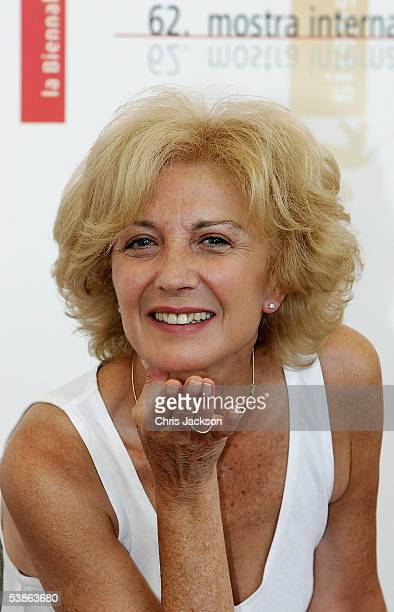 Actress Marisa Paredes blows a kiss at the photo call for Espelho Magico as part of the 62nd Venice Film Festival on September 1 2005 in Venice Italy