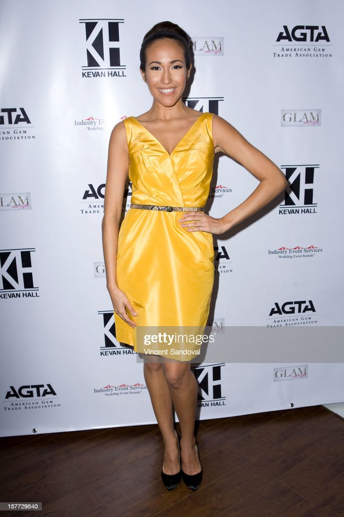 Actress Marisa Quinn attends fashion designer Kevan Hall's Spring 2013 Collection on December 5, 2012 in Los Angeles, California.