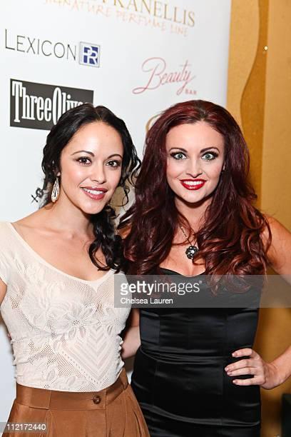 Actress Marisa Ramirez and model / television personality Maria Kanellis arrive at Maria Kanellis' signature perfume line launch party at Beauty Bar...