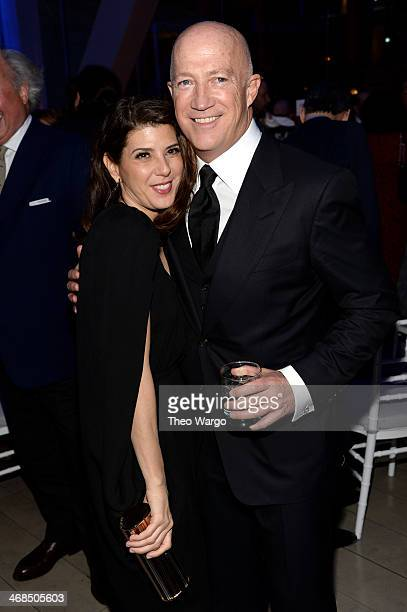 Actress Marisa Tomei and Bryan Lourd attend the Great American Songbook event honoring Bryan Lourd at Alice Tully Hall on February 10 2014 in New...