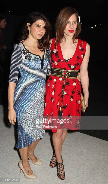 Actress Marisa Tomei and Liz Goldwyn arrive at British Fashion Council's International Showcasing Initiative London Show Rooms LA Cocktail Party at...