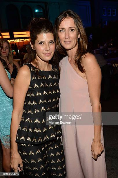 Actress Marisa Tomei and writer Anna Getty attend the after party for the 23rd Annual Environmental Media Awards presented by Toyota and Lexus at...