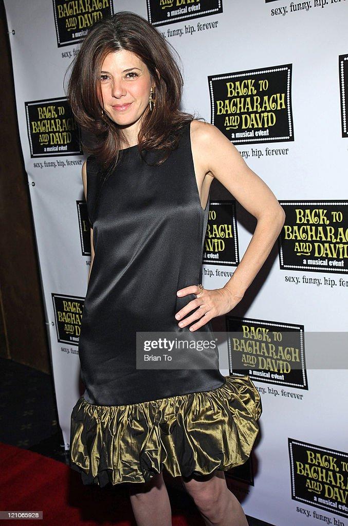 Actress Marisa Tomei arrives at 'Back to Bacharach and David' Opening Night at The Music Box @ Fonda on April 19, 2009 in Hollywood, California.
