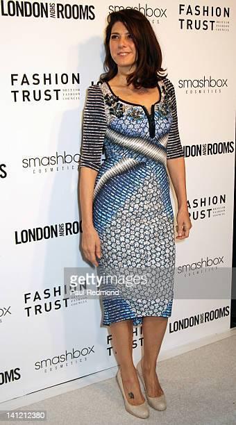 Actress Marisa Tomei arrives at British Fashion Council's International Showcasing Initiative London Show Rooms LA Cocktail Party at Smashbox Studios...