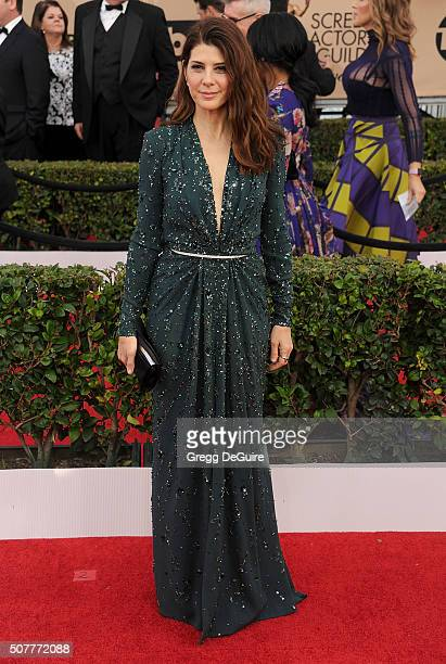Actress Marisa Tomei arrives at the 22nd Annual Screen Actors Guild Awards at The Shrine Auditorium on January 30 2016 in Los Angeles California