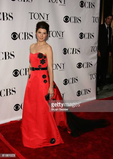 Actress Marisa Tomei arrives at the 62nd Annual Tony Awards held at Radio City Music Hall on June 15 2008 in New York City