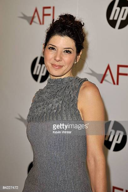 Actress Marisa Tomei arrives at the AFI Awards 2008 held at the Four Seasons Hotel on January 9 2009 in Los Angeles California