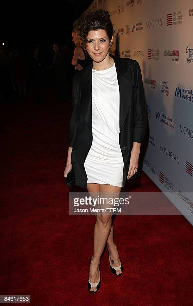 Actress Marisa Tomei arrives at the Children Mending Hearts Gala held at the House Of Blues on February 18 2009 in Hollywood California