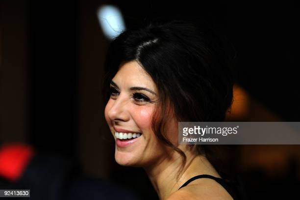 Actress Marisa Tomei arrives at the Hollywood Media Honors New York Times Columnist Nicholas Kristof held at Moura Starr on Melrose Pacific Design...