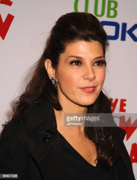 Actress Marisa Tomei arrives at The Peewee Herman Show Los Angeles Opening Night at Club Nokia on January 20 2010 in Los Angeles California