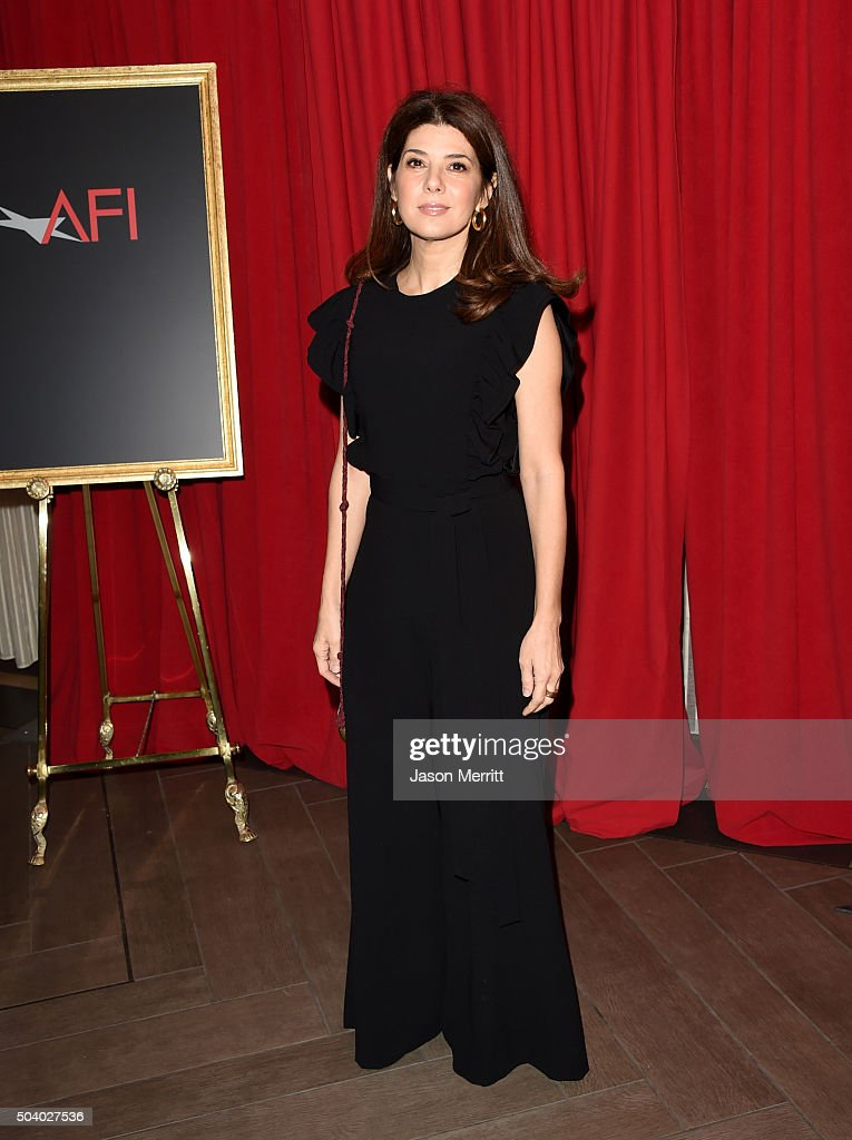 Actress Marisa Tomei attends the 16th Annual AFI Awards at Four Seasons Hotel Los Angeles at Beverly Hills on January 8, 2016 in Beverly Hills, California.