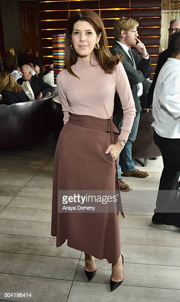 Actress Marisa Tomei attends the 2016 Film Independent Filmmaker Grant and Spirit Award Nominees Brunch at BOA Steakhouse on January 9 2016 in West...