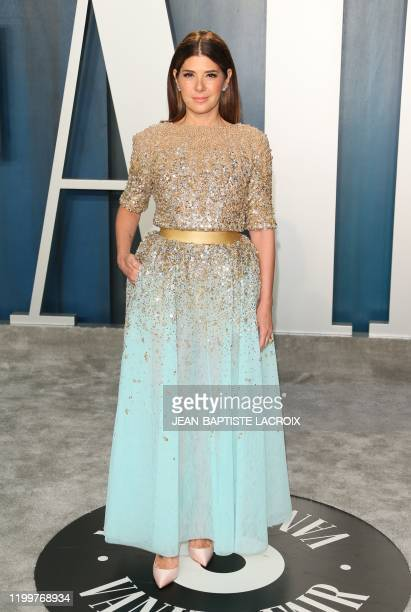 US actress Marisa Tomei attends the 2020 Vanity Fair Oscar Party following the 92nd Oscars at The Wallis Annenberg Center for the Performing Arts in...