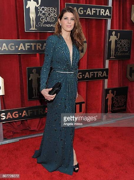 Actress Marisa Tomei attends the 22nd Annual Screen Actors Guild Awards at The Shrine Auditorium on January 30 2016 in Los Angeles California