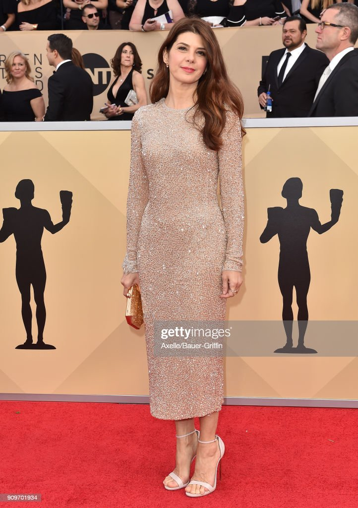 Actress Marisa Tomei attends the 24th Annual Screen Actors Guild Awards at The Shrine Auditorium on January 21, 2018 in Los Angeles, California.