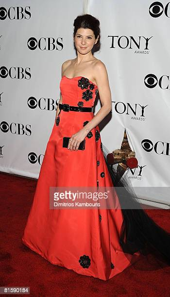 Actress Marisa Tomei attends the 62nd Annual Tony Awards at Radio City Music Hall on June 15 2008 in New York City