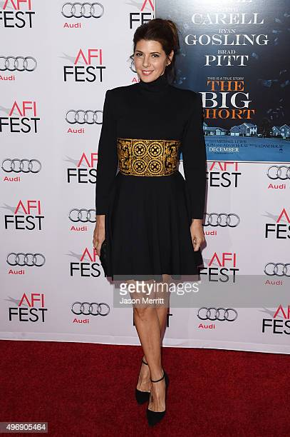 Actress Marisa Tomei attends the closing night gala premiere of Paramount Pictures' The Big Short during AFI FEST 2015 at TCL Chinese Theatre on...