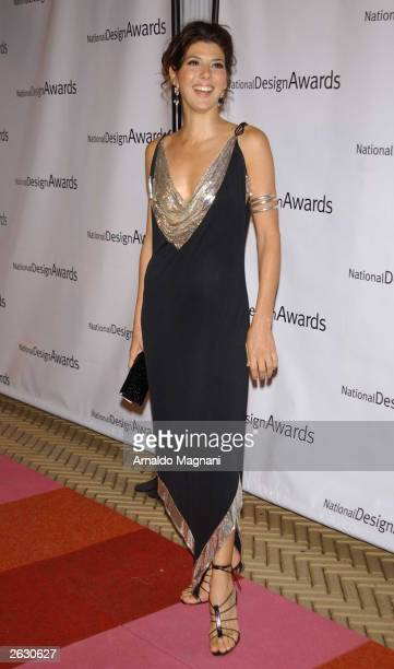 Actress Marisa Tomei attends the Cooper-Hewitt National Design Museum's fourth annual National Design Awards gala and afterparty October 22, 2003 in...
