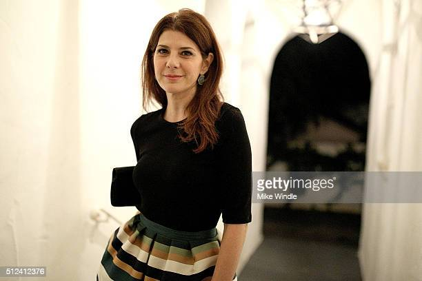 Actress Marisa Tomei attends The Dinner For Equality cohosted by Patricia Arquette and Marc Benioff on February 25 2016 in Beverly Hills California