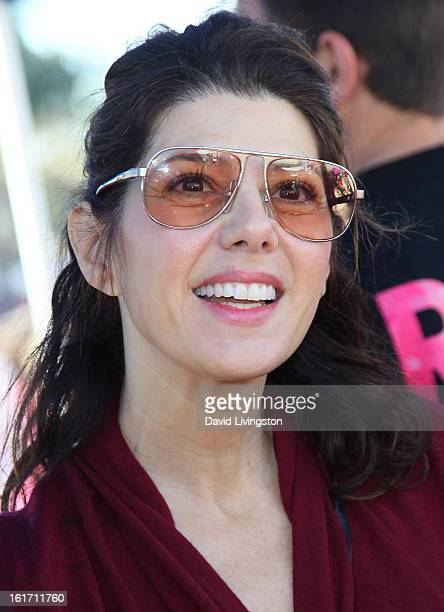 Actress Marisa Tomei attends the kickoff for One Billion Rising in West Hollywood on February 14 2013 in West Hollywood California