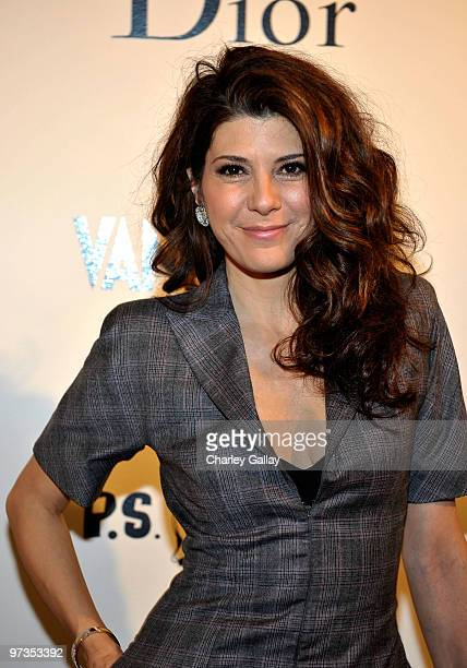 Actress Marisa Tomei attends the Kimberly Brooks' 'The Stylist Project' exhibition hosted by Vanity Fair and Dior held at LeadAPRON on March 1 2010...