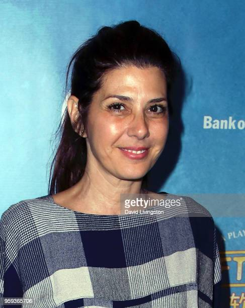 Actress Marisa Tomei attends the opening night of 'Soft Power' presented by the Center Theatre Group at the Ahmanson Theatre on May 16 2018 in Los...