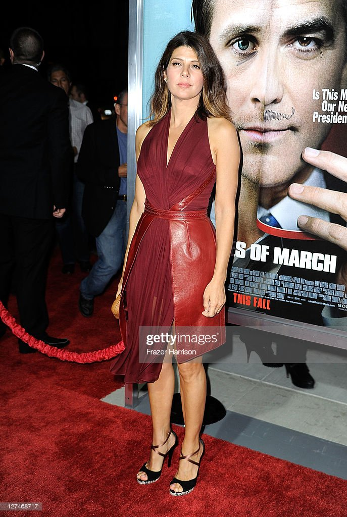 Actress Marisa Tomei attends the Premiere of Columbia Pictures' 'The Ides Of March' held at the Academy of Motion Picture Arts and Sciences' Samuel Goldwyn Theatre on September 27, 2011 in Beverly Hills, California.