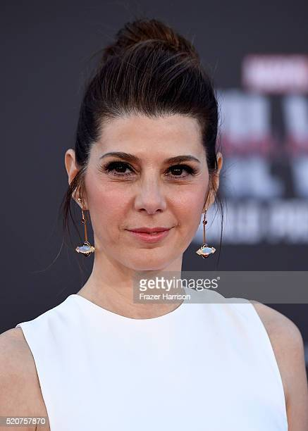 Actress Marisa Tomei attends the premiere of Marvel's 'Captain America Civil War' at Dolby Theatre on April 12 2016 in Los Angeles California