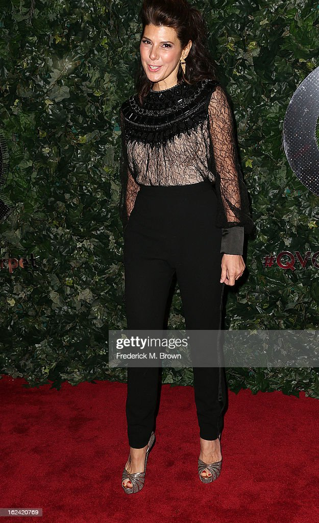 Actress Marisa Tomei attends the QVC Red Carpet Style Event, at the Four Seasons Hotel Los Angeles on February 22, 2013 in Beverly Hills, California.