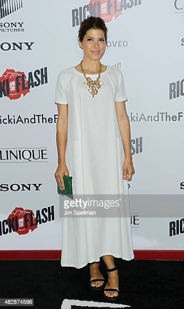 Actress Marisa Tomei attends the 'Ricki And The Flash' New York premiere at AMC Lincoln Square Theater on August 3 2015 in New York City