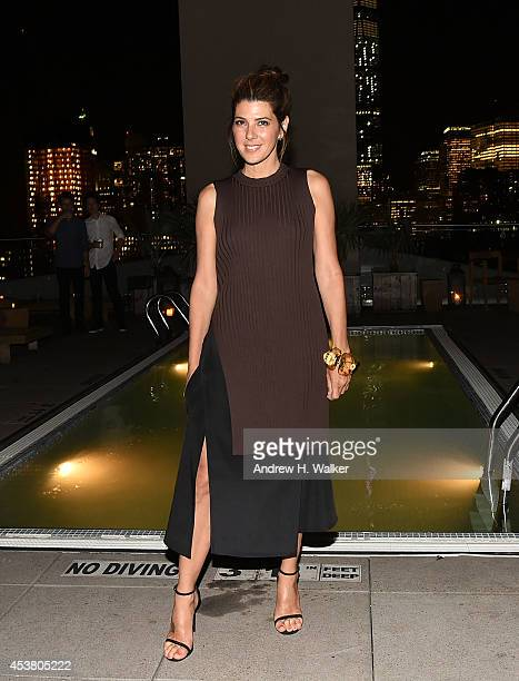 Actress Marisa Tomei attends the Sony Pictures Classics with The Cinema Society Grey Goose screening of Love is Strange after party at The Jimmy at...