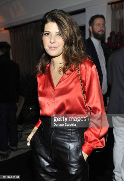 Actress Marisa Tomei attends the W Magazine celebration of The Best Performances Portfolio and The Golden Globes with Cadillac and Dom Perignon at...