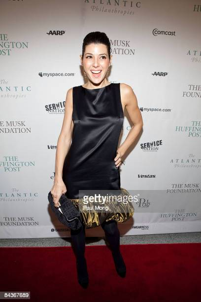 Actress Marisa Tomei attennds The Huffington Post preinaugural ball at the Newseum on January 19 2009 in Washington DC