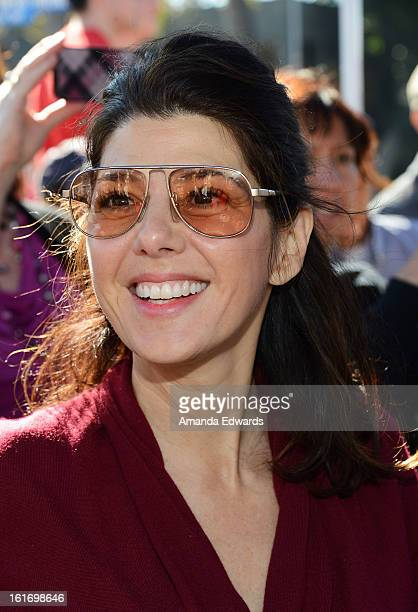 Actress Marisa Tomei helps kickoff One Billion Rising on February 14 2013 in West Hollywood California