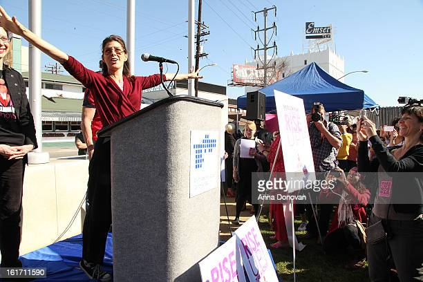 Actress Marisa Tomei helps kick-off One Billion Rising on February 14, 2013 in West Hollywood, California.