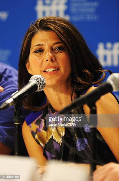 Actress Marisa Tomei speaks onstage at The Ides Of March Press Conference during 2011 Toronto International Film Festival on September 9 2011 in...