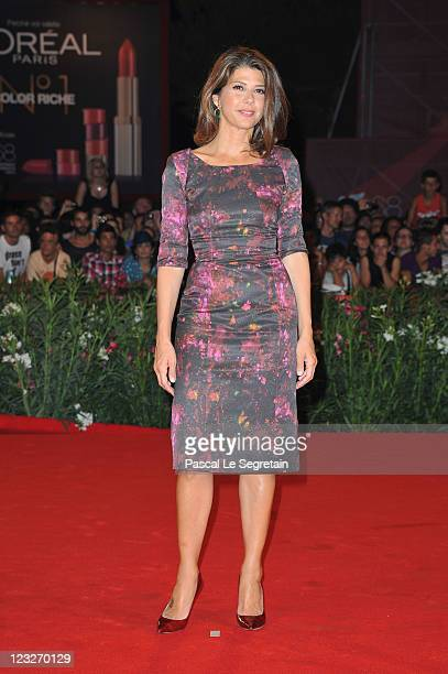 Actress Marisa Tomeiattends the WE premiere at the Palazzo Del Cinema during the 68th Venice Film Festival on September 1 2011 in Venice Italy