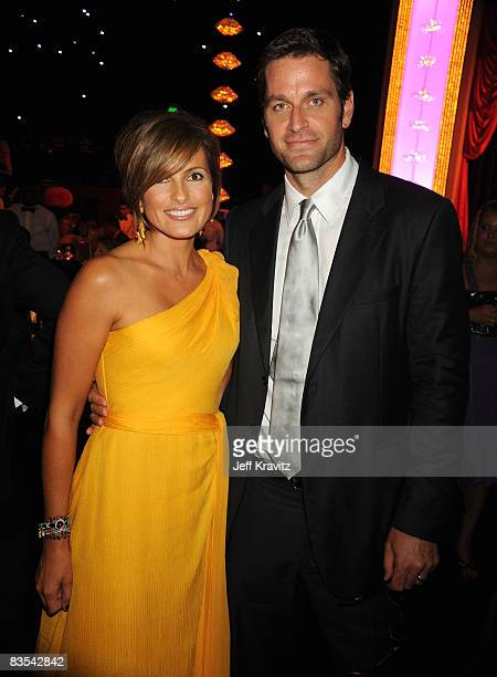 Actress Mariska Hargitay and actor Peter Hermann attend the 60th Primetime Emmy Awards Governor's Ball at the Nokia Theater on September 21 2008 in...