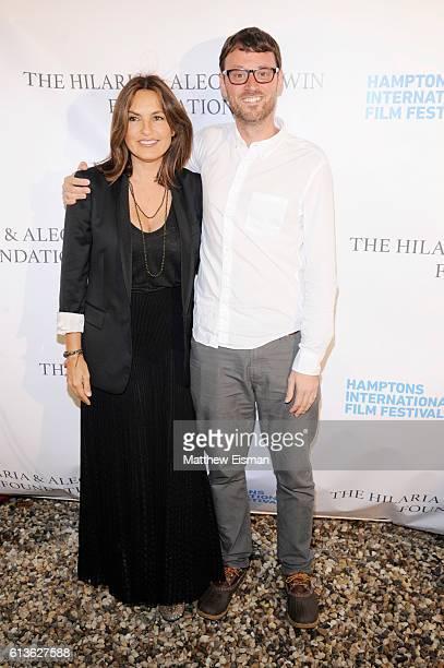 Actress Mariska Hargitay and David Nugent attend the Chairman's Reception during the Hamptons International Film Festival 2016 at Stuart Match Suna's...