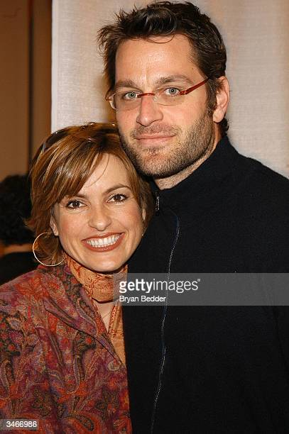 Actress Mariska Hargitay and her fiance actor Peter Herman attends the Childrens Day Artrageous Carnival Benefiting Foster Children April 25 2004 in...
