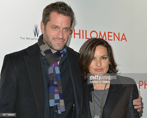 Actress Mariska Hargitay and husband Peter Hermann attend the premiere of Philomena hosted by The Weinstein Company at Paris Theater on November 12...