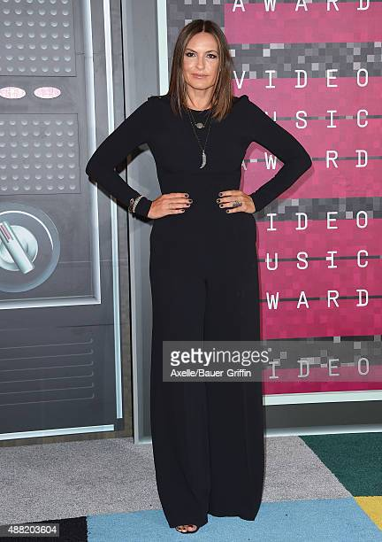 Actress Mariska Hargitay arrives at the 2015 MTV Video Music Awards at Microsoft Theater on August 30 2015 in Los Angeles California