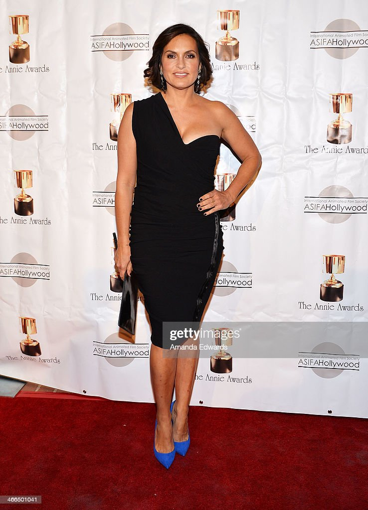 Actress Mariska Hargitay arrives at the 41st Annual Annie Awards at Royce Hall, UCLA on February 1, 2014 in Westwood, California.
