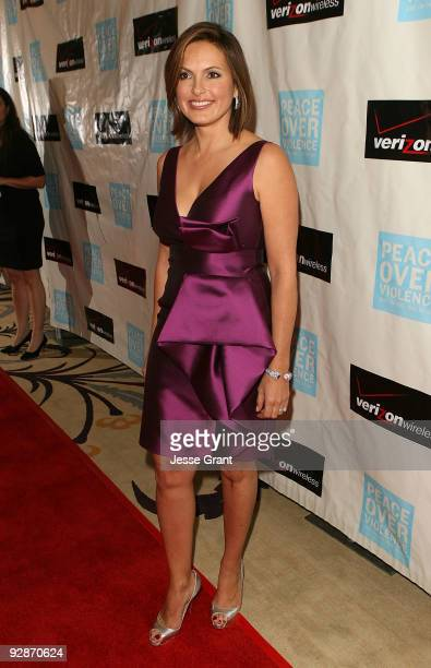 Actress Mariska Hargitay arrives at the Peace Over Violence 38th Annual Humanitarian Awards at the Beverly Hills Hotel on November 6 2009 in Beverly...