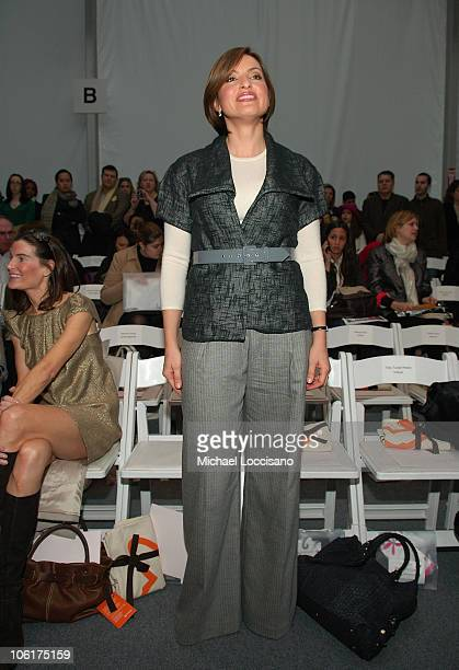 Actress Mariska Hargitay attends Lela Rose Fall 2008 during MercedesBenz Fashion Week at the Salon Bryant Park on February 3 2008 in New York City