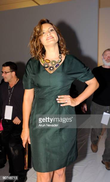 Actress Mariska Hargitay attends Lela Rose Spring 2010 during MercedesBenz Fashion Week at Bryant Park on September 13 2009 in New York City