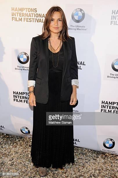 Actress Mariska Hargitay attends the Chairman Reception during the Hamptons International Film Festival 2016 at Stuart Match Suna's Residence on...